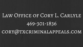 Law Office of Cory L. Carlyle469-301-1836cory@txcriminalappeals.com